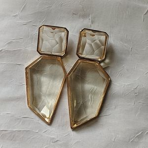 NWOT large lucite dangle studs